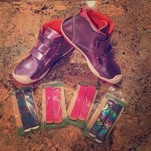 Plae shoes metallic purple and orange never worn